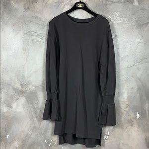Zara oversized dress with long ruffle sleeve
